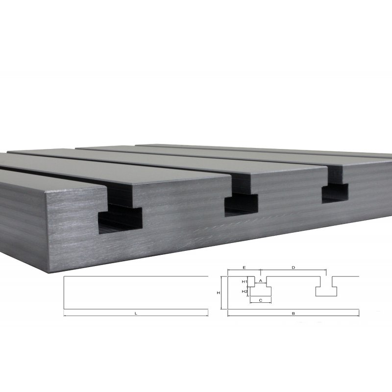 "Steel T-slot plate 12040 ""Big Block"""