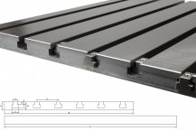 Steel T-slot plate 4040 (finely milled)