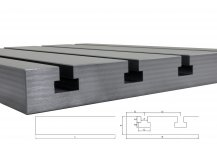 Steel T-slot plate 5040 Big Block