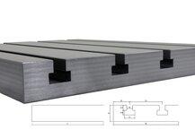 Steel T-slot plate 8040 Big Block