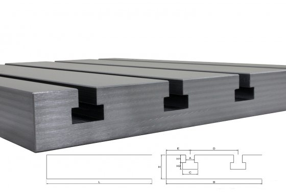 Steel T-slot plate 9050 Big Block