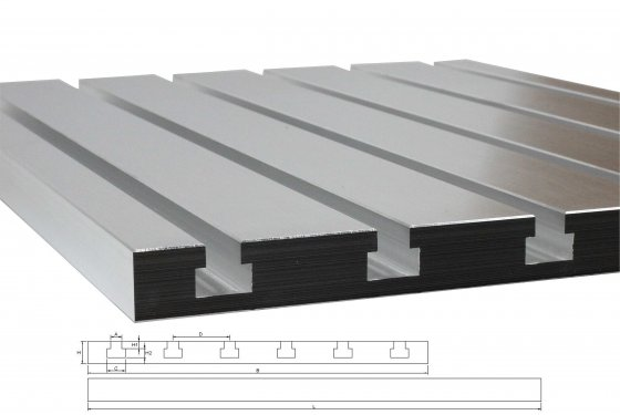 T-slot plate 8040