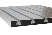 Cast aluminium T-slot plate 10 x 8