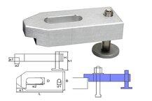heigth-adjustable cast aluminium clamp M12/14x100x40x20