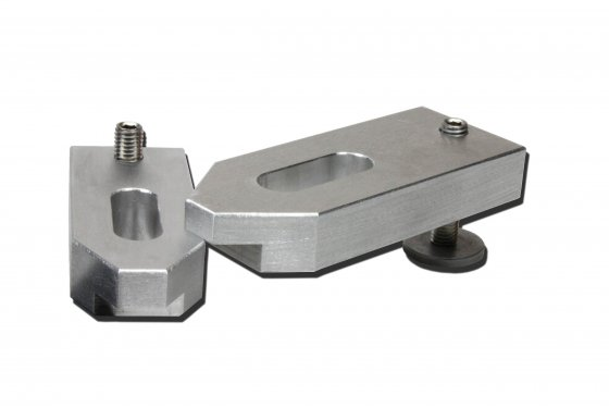 heigth-adjustable cast aluminum clamp M16x125x50x20